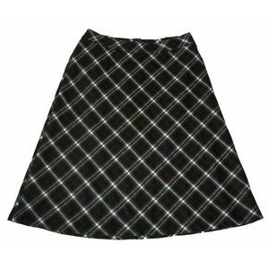 Talbots A-line Midi Skirt 16W Plaid Wool